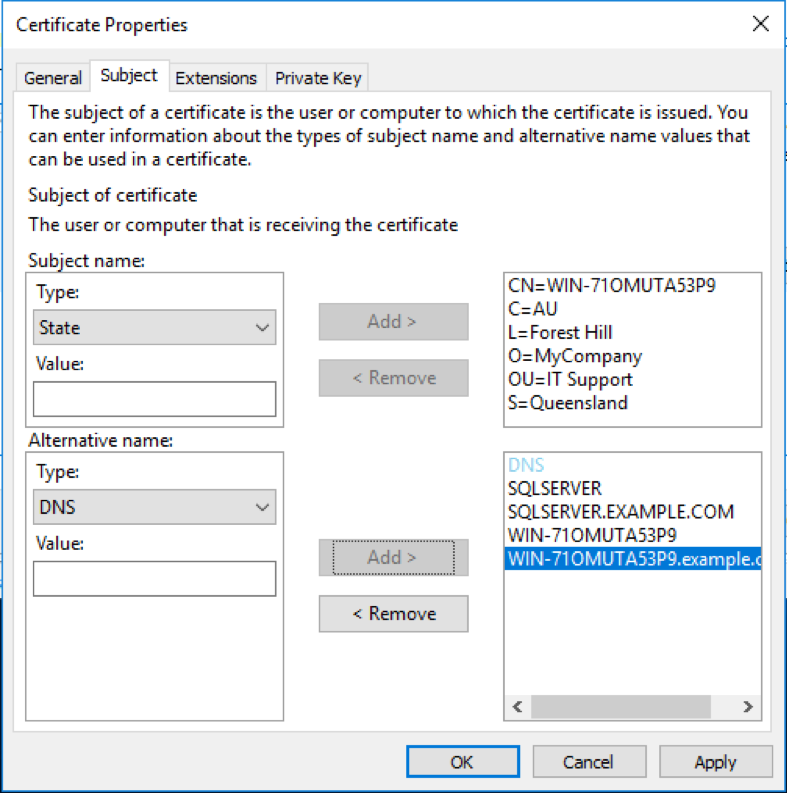 Securing Microsoft Sql Server With Ssltls Ssltrust